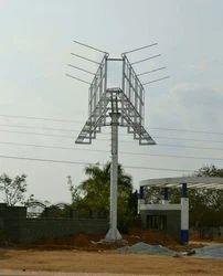 Steel Mini Unipole hoarding outdoor advertising, For Fabrication Engineer, in Hyderabad