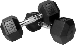 steel and rubber Hex Dumbbells, weight : 30 kg