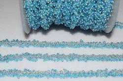 Sky Blue Peru Chalcedony Gemstone Angoori Chain