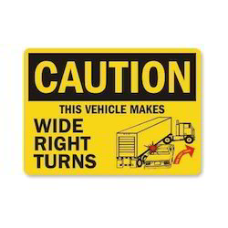 Driving Caution Safety Signage