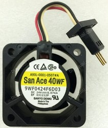 SanAce Cooling Fan 9WF0424F6D03 24VDC 0.076A SanAce 40 Drive Radiator Cooling Fan