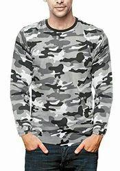 Cotton Camouflage T Shirt