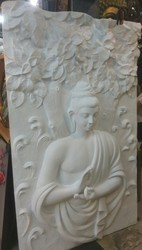 Buddha Wall Mural Sculptor In FRP
