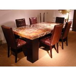 Dining Table Trendy Dining Table Manufacturer From Coimbatore - Wood and stone dining table