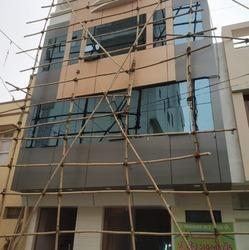 Glass ACP Cladding Work