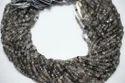 Black Rutilated Quartz Faceted Rondelle Beads Strand
