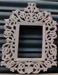 Brown Carved mdf Photo Frame, For Decoration, Size: 18, 24