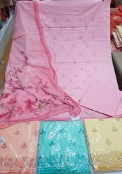 Cotton Unstitched Suit Material