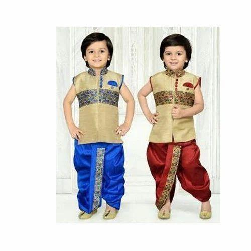 4a82bd27fec0 Cotton Party Wear Boys Dhoti Set, Size: 26.0, Rs 170 /set | ID ...