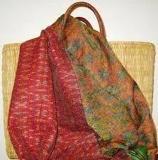 Kantha Silk Scarfs