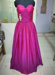 Magenta English Ball Gown