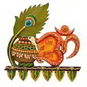 Wooden & Paper Mache Jai Shree Krishana Makhan Morepankhi