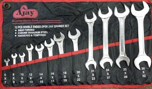 Double ended Ring Spanner 12 Pcs Set Metric 6-32mm Garage Tool