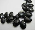 Black Spinel Oval Shape Beads