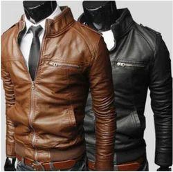 Elegant Motorcycle Leather Jacket