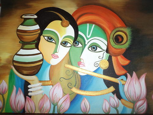 radhe krishna painting poster at rs 3000 piece s toral park