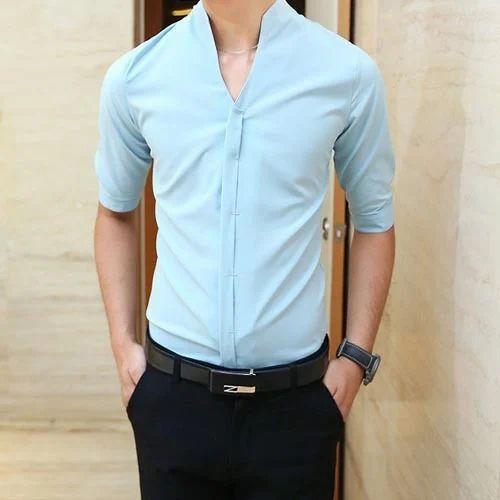 Mens Formal Half Sleeve Shirt