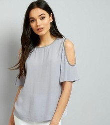 Lavender Girls Cold Shoulder Top