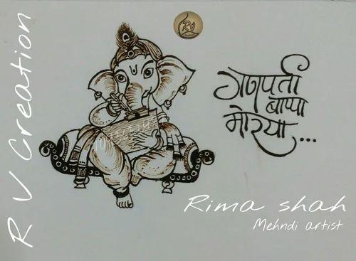 Mehndi Drawing Photos : Gallery mehndi pencil drawing drawings art