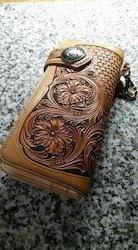 Hand Tooled Carving Leather Women Purse