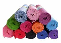 Pvc Multicolor Yoga Mat, Thickness: 4mm