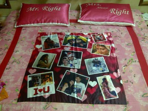 personalized photo bed sheet personalized photo bedsheets photo