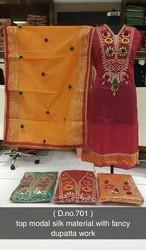 Semi Stitched Designer Suit