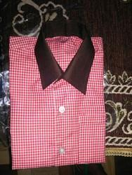 Cotton School Shirt Uttar Pradesh (UP) Government Red And White Checks Uniform
