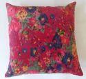 Bird Print Velvet Cushion Covers