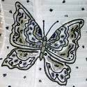 White Printed Fabrics Embroidery Services