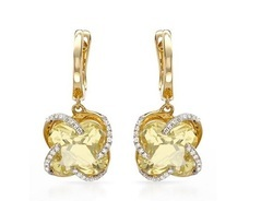 Sheetal Impex 0.32Tcw SI/FG Color  Real Natural Diamonds Stud 14Kt Yellow Gold Gemstone Earring