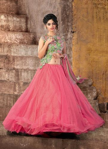 82c1f4270b Net Pink Color Fancy Semi-Stitched Lehenga Choli, Rs 5888 /piece ...