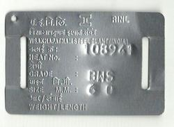 Steel Tags for Wire Rod Bundles