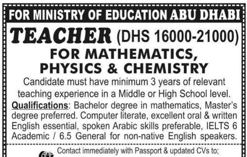 Urgent Vacancies Of Teachers, Recruitment Consultancy - Fab