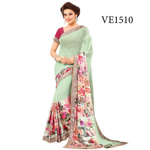e6250f24fc Georgette Fancy Party Wear Saree, Rs 1500 /piece, Surya Silks India ...