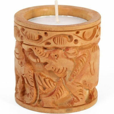 Brown Wooden Tea Light