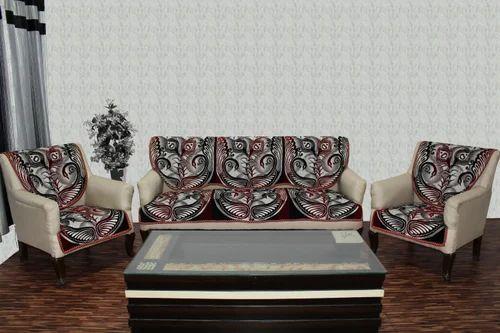 Chenille Sofa Cover Mayur Maroon