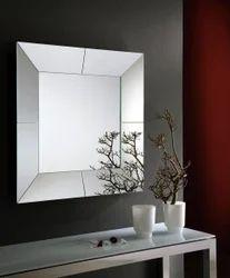 Riflessi Cube Italian Mirror, Size: 85 cm (W) x 85 cm (H) 2.8 x 2.8 cm