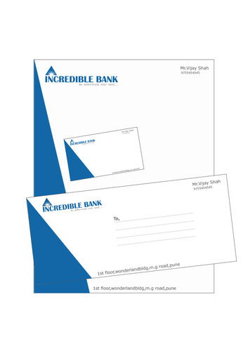 letterhead envelope and visiting card design in katraj pune