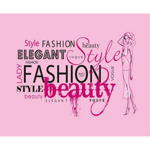 Vinyl Horizontal Vertical Fashion Style Beauty Text Graphic Wallpaper