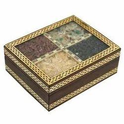 Wooden Gemstone Box