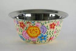 Hand Painted Enamelware Salad Bowl