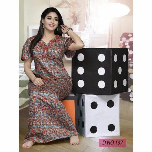 5c030a5405 Ladies Cotton Designer Night Gown