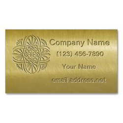 Brass Visiting Card