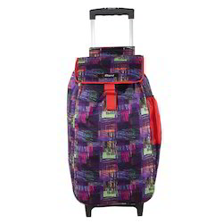 Purple Wheeled Trolley Multipurpose Shopping Bag