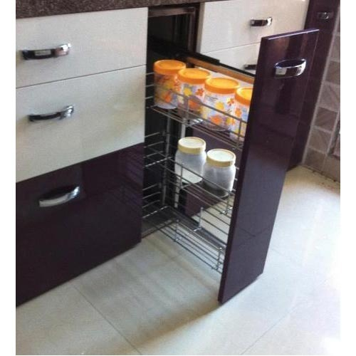 Single Pullout Kitchen Cabinet Trolley & Single Pullout Kitchen Cabinet Trolley - S. K. Industries Vasai ...