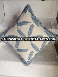 Block Print Feather Cushions