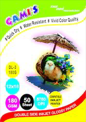 Double Side  Inkjet Photo Paper 180gsm Glossy SIZE A4