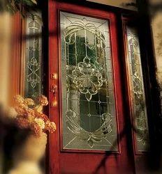 Designer Stained Glass Door