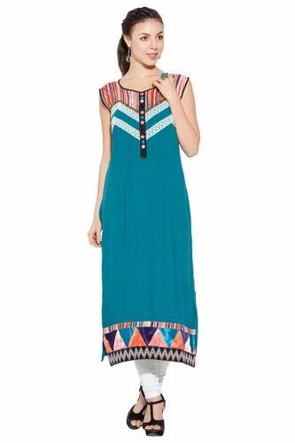 0b480fbc6f Girls Designer Tops Short Kurti tunic - Designer Printed Casual Styling Long  Kurti Kurta Manufacturer from Mumbai